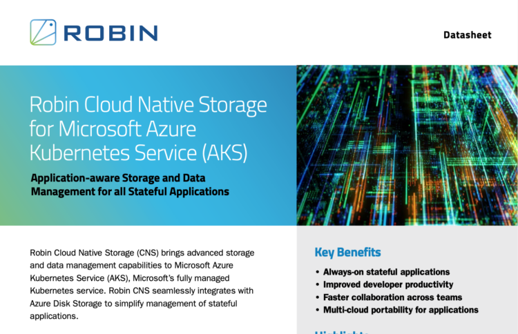 Robin Cloud Native Storage for Microsoft AKS