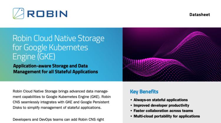 Robin Cloud Native Storage for GKE
