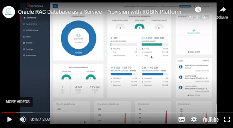 Provision Oracle RAC Database as a Service with Robin Platform
