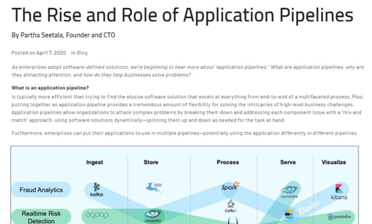 The Rise and Role of Application Pipelines