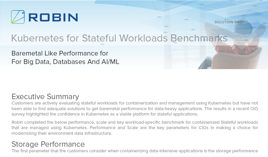 Kubernetes for Stateful Workloads Benchmarks