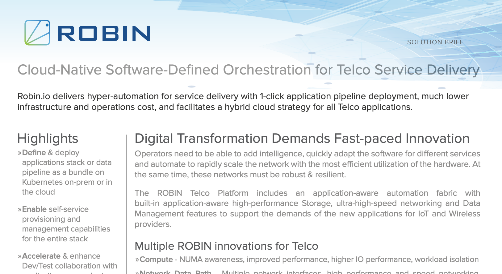 Cloud-Native Software-Defined Orchestration for Telco Service Delivery