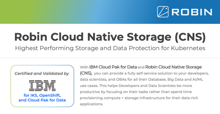 Robin Cloud Native Storage for IBM Cloud Pak for Data