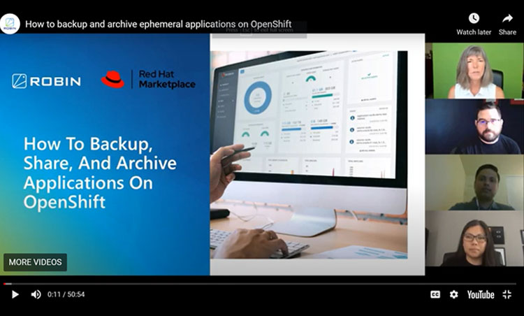 How to backup and archive ephemeral applications on OpenShift