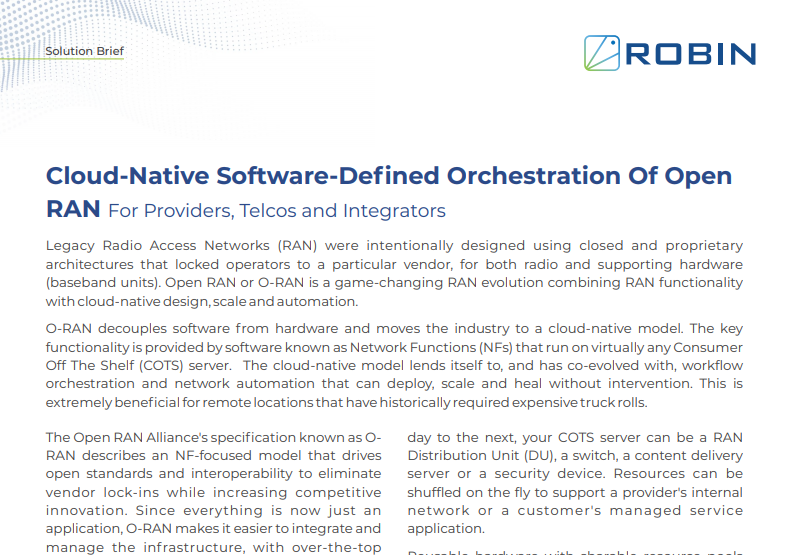 Cloud-Native Software-Defined Orchestration of Open RAN(ORAN)